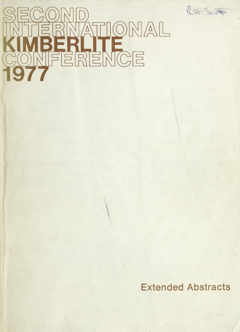 View Vol. 2 (1977): Vol 2: International Kimberlite Conference, Santa Fe