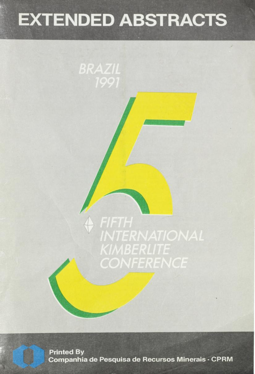 View Vol. 5 (1991): Vol 5: Fifth International Kimberlite Conference, Brazil