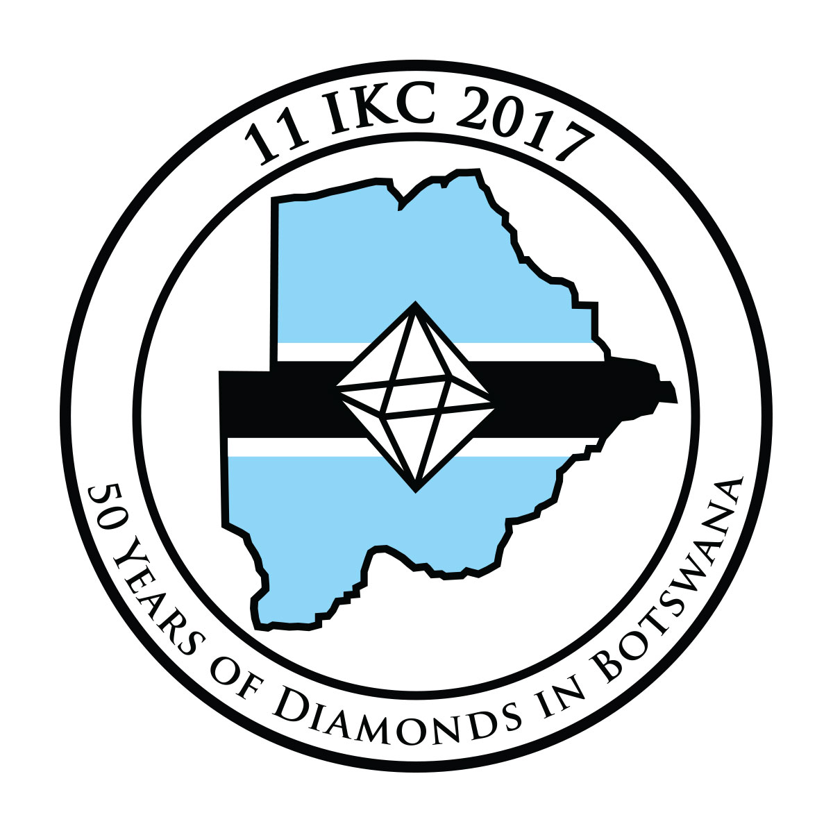 Logo: 11 IKC 2017 - 50 years of diamonds in Botswana